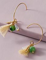 cheap -Women's Hoop Earrings Tassel Fringe Fashion Stylish Classic European Cute Sweet Earrings Jewelry Silver For Party Evening Gift Date Beach Promise 1 Pair