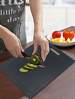 cheap -Cutting Board Easy Grip Handle Kitchen Chopping Board with Anti-Slip Pads Black White BPA Free