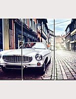 cheap -3 Panels Wall Art Canvas Prints Painting Artwork Picture Car Painting Home Decoration Décor Rolled Canvas No Frame Unframed Unstretched