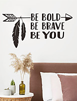 cheap -Characters Geometric Wall Stickers Bedroom Living Room Removable PVC Home Decoration Wall Decal 1pc