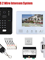 cheap -7 Inch BUS 2 Wire RFID Video Door Phone Intercom systems Electronic Door Lock home Access Control System
