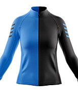 cheap -21Grams Women's Long Sleeve Cycling Jersey Spandex Blue / Black Bike Top Mountain Bike MTB Road Bike Cycling Quick Dry Moisture Wicking Sports Clothing Apparel / Stretchy / Athleisure