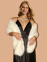 cheap -Sleeveless Elegant Faux Fur Wedding Party Women's Wrap With Solid