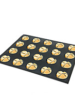 cheap -Bread Mold Biscuit Puff Cake Tart DIY Baking Mold Silicone Baguette Non-stick and Breathable Mold 25*38*1.6cm