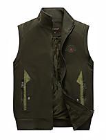 cheap -Men's Fishing Vest Hiking Fleece Vest Sleeveless Winter Jacket Coat Top Outdoor Thermal Warm Windproof Fleece Lining Quick Dry Autumn / Fall Winter Fleece Hooded Khaki Vest 8899 khaki 6666 Standing