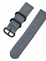 cheap -nylon canvas band strap for xiaomi huami amazfit gtr 47/haylou solar ls05 watchband for samsung gear s3 bracelet accessories (band color : gray, band width : 22mm)