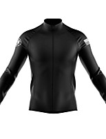 cheap -21Grams Men's Long Sleeve Cycling Jersey Spandex Black American / USA Bike Top Mountain Bike MTB Road Bike Cycling Quick Dry Moisture Wicking Sports Clothing Apparel / Stretchy / Athleisure