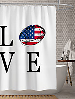 cheap -Waterproof Fabric Shower Curtain Bathroom Decoration and Modern and House and Classic Theme