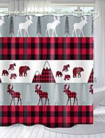 cheap -Flamingo Christmas Deer Series Digital Printing Shower Curtain Shower Curtains  Hooks Modern Polyester New Design