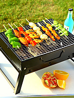 cheap -outdoor barbecue stainless steel portable folding barbecue grill camping barbecue household mini charcoal grill bbq
