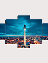 cheap -5 Panels Wall Art Canvas Prints Painting Artwork Picture Tower Painting Home Decoration Dcor Rolled Canvas No Frame Unframed Unstretched