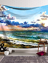 cheap -Oil Painting Style Wall Tapestry Art Decor Blanket Curtain Hanging Home Bedroom Living Room Decoration Polyester Ocean Landscape