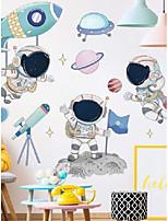 cheap -Wall stickers space aerospace pilot stickers cartoon children's room stickers kindergarten classroom decoration layout