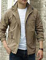cheap -Men's Hiking Jacket Hoodie Jacket Outdoor Thermal Warm Windproof Quick Dry Lightweight Outerwear Coat Top Hunting Fishing Climbing khaki Black Army Green Dark Blue / Long Sleeve / Breathable