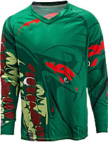 cheap -21Grams Men's Long Sleeve Cycling Jersey Spandex Green Bike Top Mountain Bike MTB Road Bike Cycling Quick Dry Moisture Wicking Sports Clothing Apparel / Stretchy / Athleisure