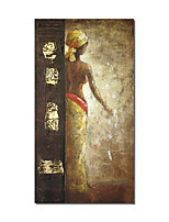 cheap -Oil Painting Handmade Hand Painted Wall Art Rectangle Character Classic Abstract Wall Art Canvas Home Decoration Decor Stretched Frame Ready to Hang