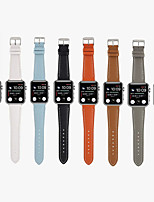 cheap -Smart Watch Band for Apple iWatch 1 pcs Classic Buckle Business Band Genuine Leather Replacement  Wrist Strap for Apple Watch Series SE / 6/5/4/3/2/1