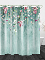 cheap -Fresh Flowers Print Waterproof Fabric Shower Curtain for Bathroom Home Decor Covered Bathtub Curtains Liner Includes with Hooks