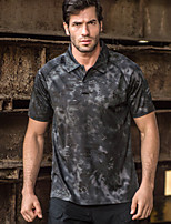 cheap -Men's T shirt Hiking Tee shirt Golf Shirt Outdoor Camo Quick Dry Lightweight Breathable Sweat wicking Tee Tshirt Top Hunting Fishing Climbing 1 2 3 4 5 / Short Sleeve