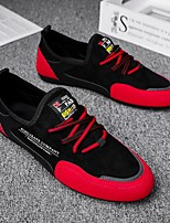 cheap -Men's Loafers & Slip-Ons Comfort Loafers Sporty Daily PU Elastic Fabric Breathable Non-slipping Wear Proof Black / Red Black+Gray Spring Summer