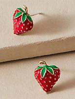 cheap -Women's Drop Earrings Earrings Wedding Birthday Simple Cartoon Romantic Sweet Earrings Jewelry Red For Wedding Gift Date Beach Festival 1 Pair