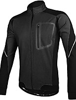 cheap -Men's Cycling Jacket Bike Top Quick Dry Moisture Wicking Sports Solid Color Green Clothing Apparel Bike Wear / Long Sleeve / Micro-elastic / Athleisure