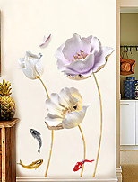 cheap -tulip wallpaper self-adhesive warm bedside room bedroom decoration dormitory living room creative sticker