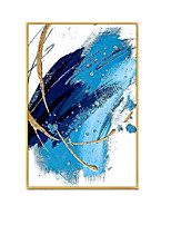 cheap -Oil Painting Handmade Hand Painted Wall Art Blue White Modern Abstract Paintings Home Decoration Decor Stretched Frame Ready to Hang
