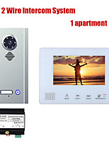 cheap -7 Inch BUS 2 Wire Video Door Phone Intercom systems Kit for home 1 Units Apartment Night Vision