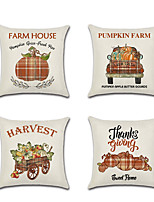 cheap -Autumn Double Side Cushion Cover 1PC Soft Decorative Square Throw Pillow Cover Cushion Case Pillowcase for Bedroom Livingroom Superior Quality Machine Washable Outdoor Cushion for Sofa Couch Bed Chair Pumpkin Fall