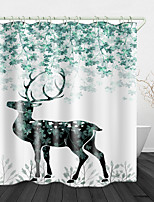 cheap -Sika deer Print Waterproof Fabric Shower Curtain for Bathroom Home Decor Covered Bathtub Curtains Liner Includes with Hooks