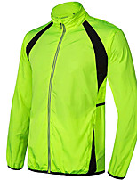 cheap -Men's Cycling Jacket Bike Top Quick Dry Moisture Wicking Sports Patchwork Yellow / Green / Orange Clothing Apparel Bike Wear / Long Sleeve / Micro-elastic / Athleisure