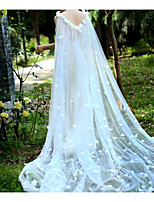 cheap -Sleeveless Elegant & Luxurious Tulle Wedding / Wedding Party Women's Wrap With Pearls / Flower / Solid