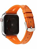 cheap -compatible apple watch band 40mm 38mm,sweatproof slim leather and silicone sports watch strap replacement with hole for iwatch se series 6 5 4 3 2 1,orange