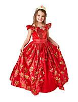 cheap -Princess Dress Kid's Girls' Halloween Halloween Halloween Children's Day Festival / Holiday Terylene Red Easy Carnival Costumes Graphic / Headwear