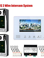 cheap -7 Inch BUS 2 Wire Fingerprint Video Door Phone Intercom systems for home 2-doorbell camera 1-monitor Night Vision
