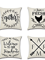 cheap -Farmhouse Double Side Cushion Cover 1PC Soft Decorative Square Throw Pillow Cover Cushion Case Pillowcase for Bedroom Livingroom Superior Quality Machine Washable Outdoor Cushion for Sofa Couch Bed Chair