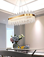 cheap -LED Pendant Light 120 100 80 60 cm Luxury European K9 High end Crystal Chandelier Rectangle Dimmable Ceiling Lamp Suitable for Bedroom Dining Room Study AC110V AC220V