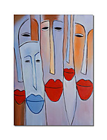 cheap -Oil Painting Handmade Hand Painted Wall Art Rectangle People Abstract Wall Art Canvas Home Decoration Decor Stretched Frame Ready to Hang