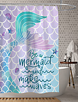 cheap -Waterproof Fabric Shower Curtain Bathroom Decoration and Modern and House and Geometric
