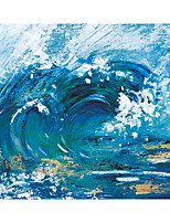 cheap -Oil Painting Handmade Hand Painted Wall Art Square Blue Sea Abstract Home Decoration Decor Stretched Frame Ready to Hang