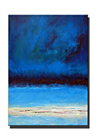 cheap -Oil Painting Handmade Hand Painted Wall Art Rectangle Blue Landscape Abstract Home Decoration Decor Stretched Frame Ready to Hang