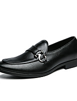 cheap -Men's Loafers & Slip-Ons Comfort Loafers Light Soles Drive Shoes Casual British Daily Office & Career PU Handmade Non-slipping Wear Proof Black Coffee Fall Winter