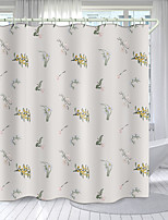 cheap -Flowers and Plants Series Digital Printing Shower Curtain Shower Curtains  Hooks Modern Polyester New Design
