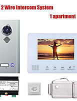 cheap -7 Inch BUS 2 Wire Video Door Phone Intercom systems Kit for home 1 Apartment Electronic Door Lock home Night Vision