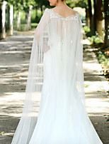 cheap -Sleeveless Elegant & Luxurious Tulle Wedding / Wedding Party Women's Wrap With Bowknot / Lace / Solid