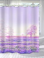 cheap -Flower Field Series Digital Printing Shower Curtain Shower Curtains  Hooks Modern Polyester New Design