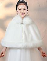 cheap -Sleeveless Elegant Faux Fur Wedding Party Kids' Wraps / Women's Wrap With Solid