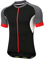 cheap -21Grams Men's Short Sleeve Cycling Jersey Summer Spandex Black Bike Top Mountain Bike MTB Road Bike Cycling Quick Dry Moisture Wicking Sports Clothing Apparel / Stretchy / Athleisure