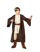 cheap -Movie / TV Theme Costumes Warrior Cosplay Costume Kid's Boys' Halloween Halloween Festival Halloween Children's Day Masquerade Festival / Holiday Terylene Brown Easy Carnival Costumes Solid Color